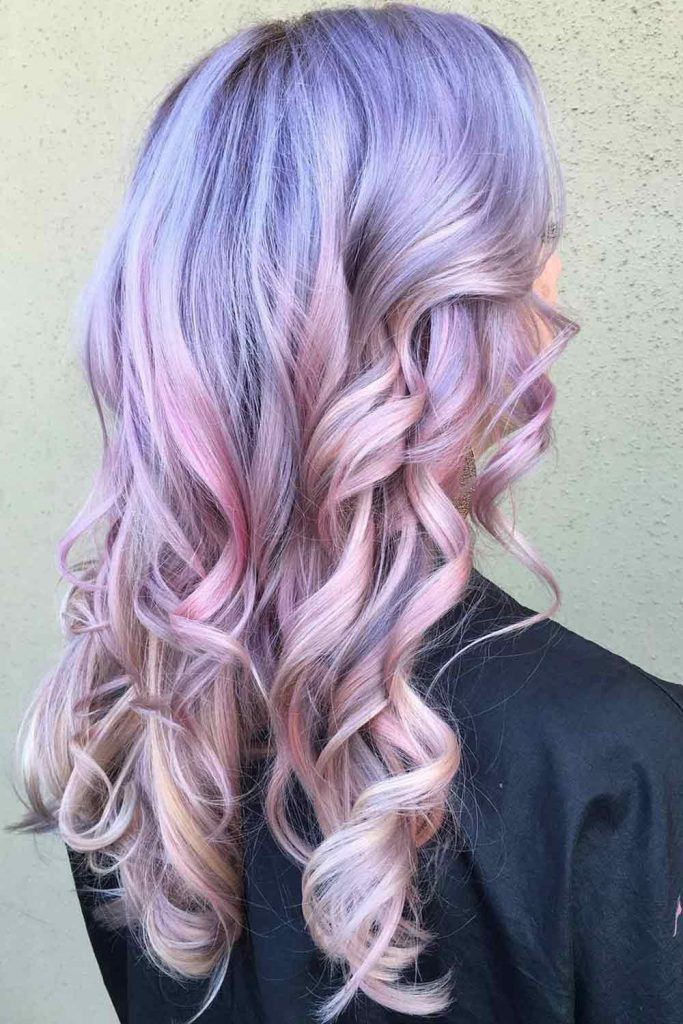 Pastel Hair Colors + Lavender Root