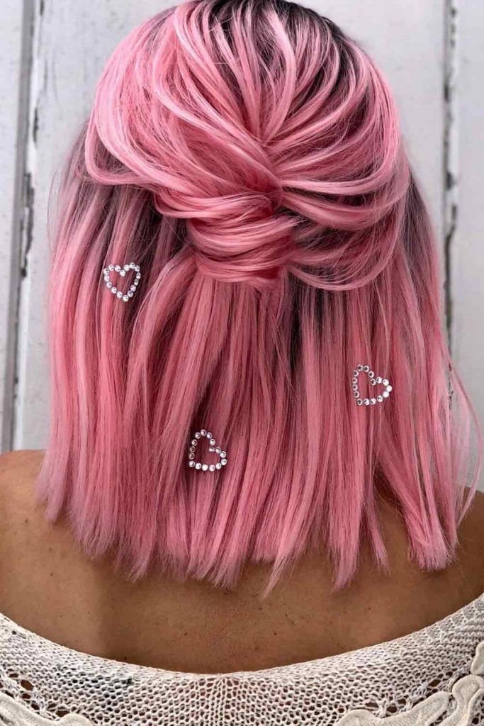 Half-Up Ponytail For Short Hair