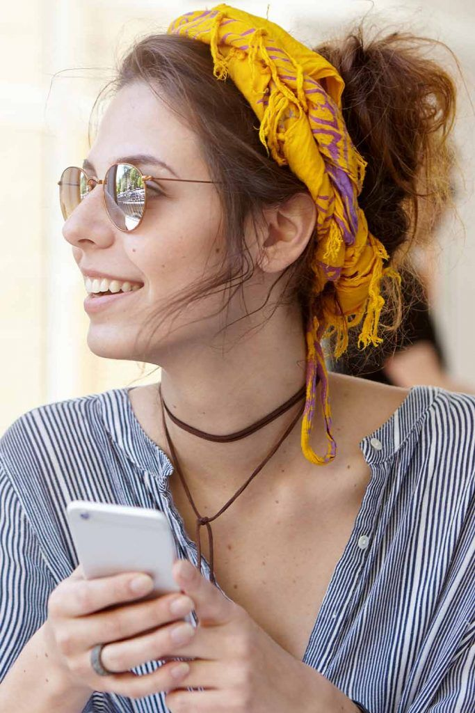 Simple Top Knot With Headband