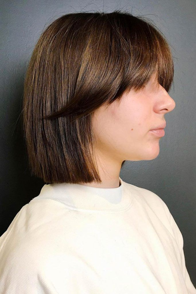 Blunt Bob Cut with Middle Part Hair