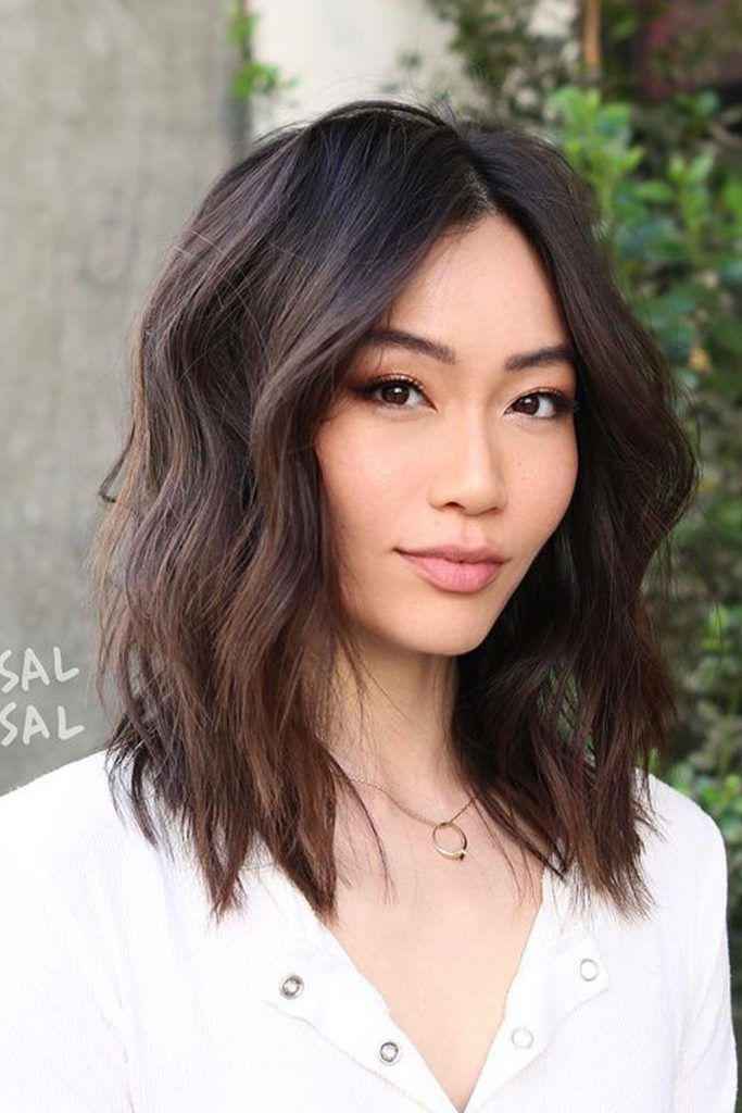 Middle Length Cuts and Centered Hair