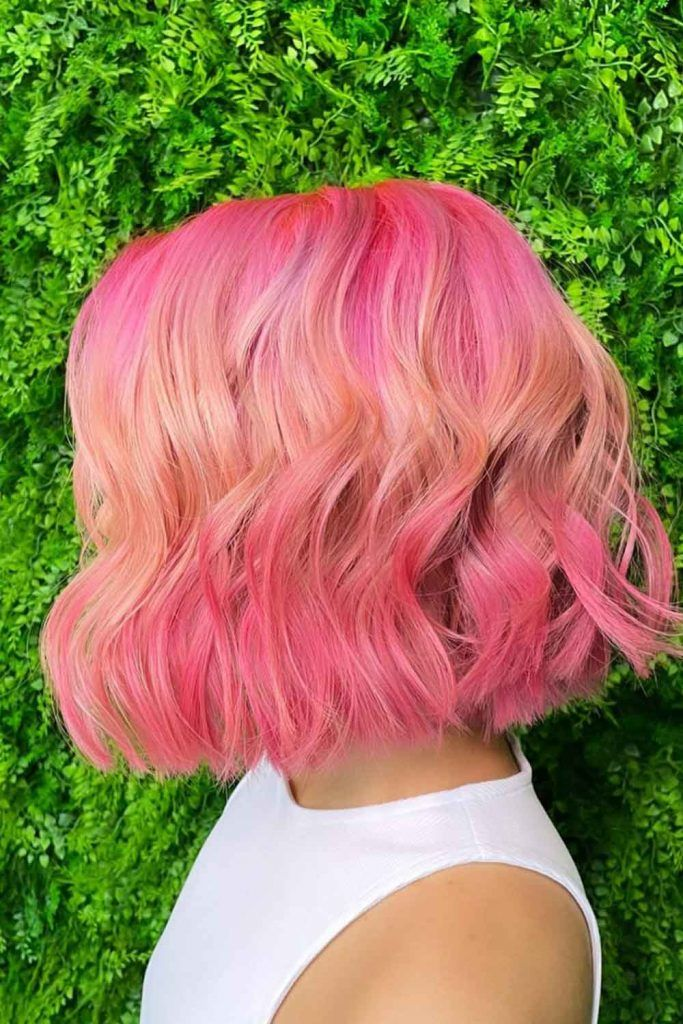 Peachy Ombre Hair
