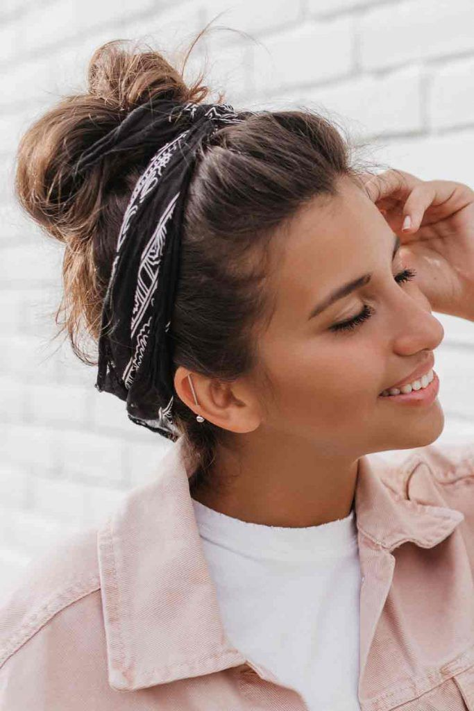 Messy Updo With A Headband