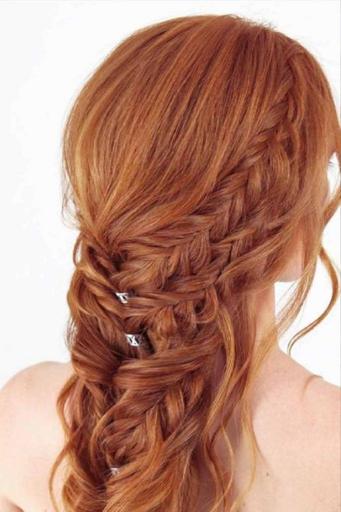 Long Hairstyles Layered French Braid