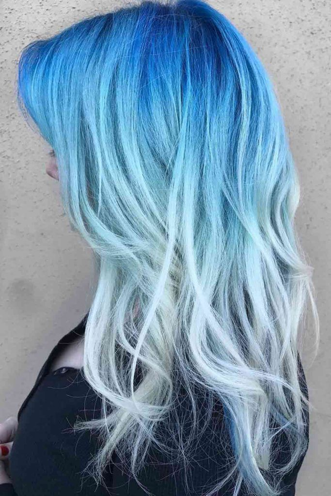 Silky And Enviable Icy Blue Hair Color