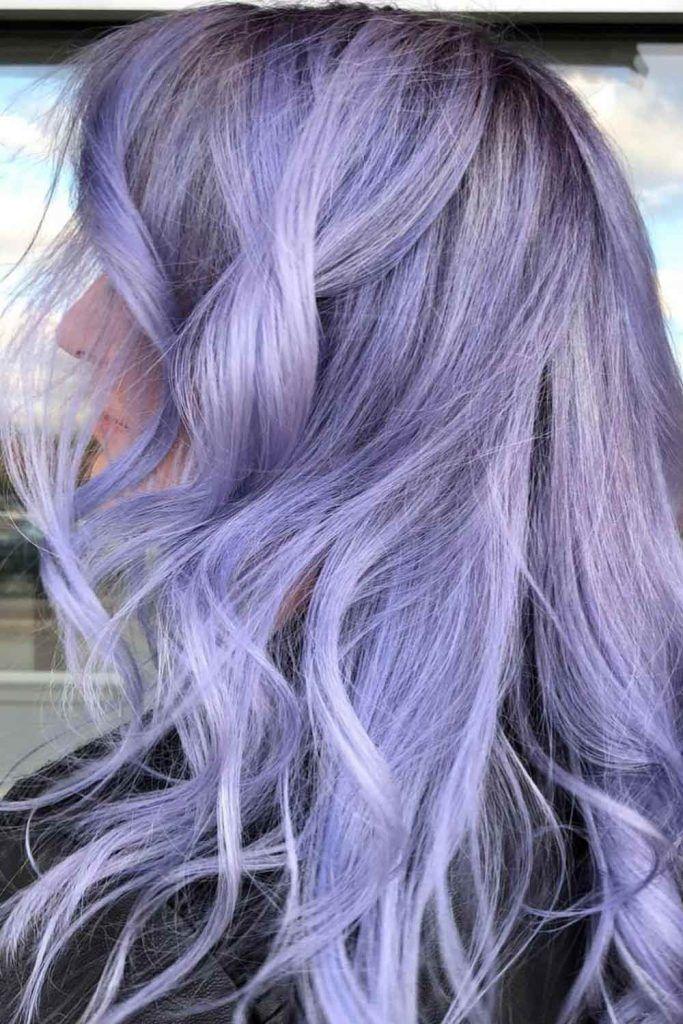 Soft Purple Hair Color