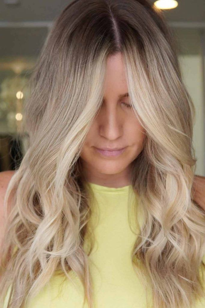 Natural Blonde With Dark Roots