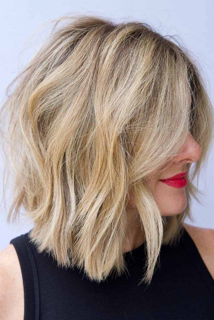 Dishwater Blonde Bob With Layers