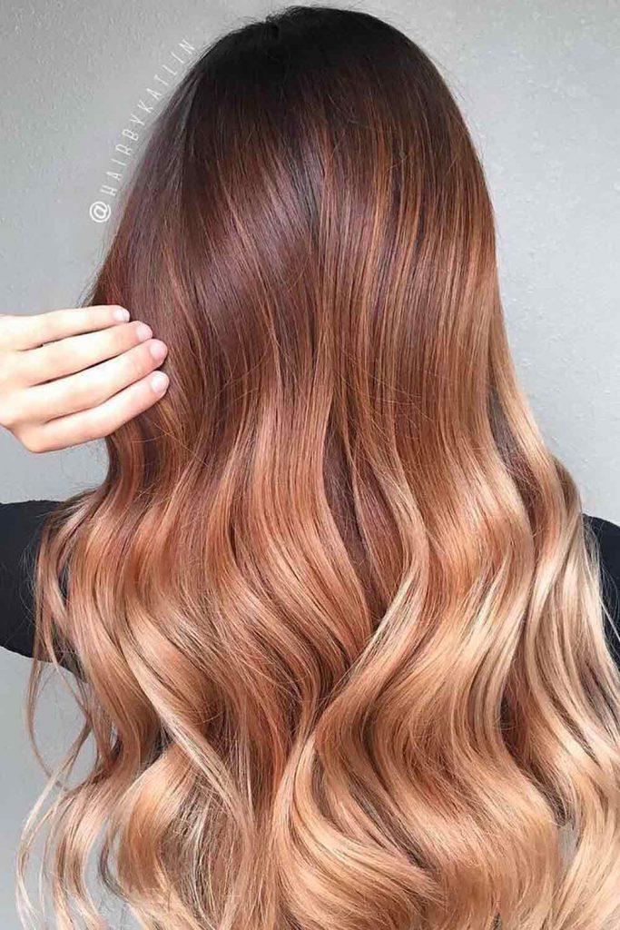 Auburn Hair With Caramel Highlights