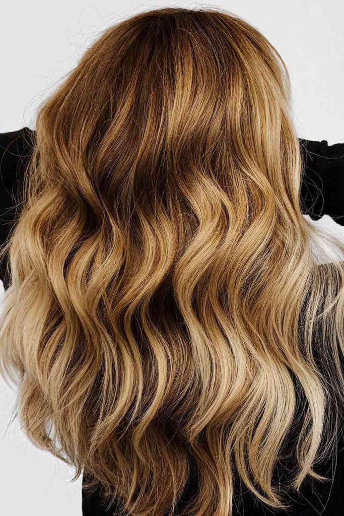 Honey Blonde Balayage Hair Color