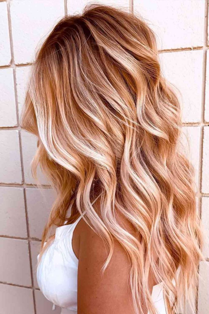 Super Cute Style For Rose Gold Balayage Hair