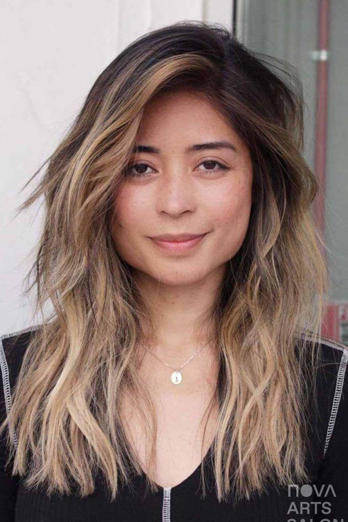 Mixed Balayage On Dark Brown Hair