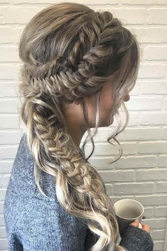 Side Messy Braid With Pulled Edges