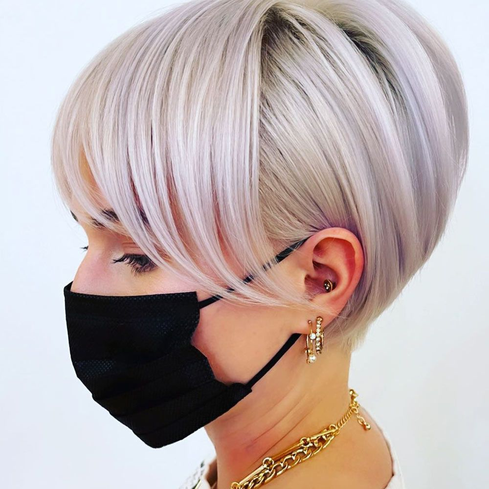Angled Short Style With Lilac Tint