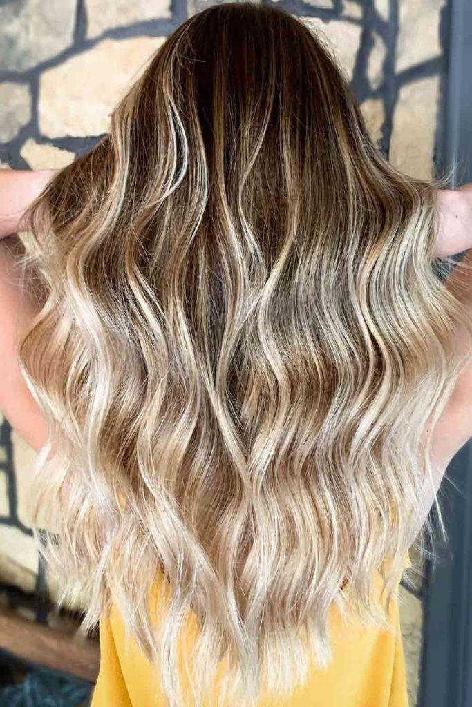 Golden And Ash Blonde Highlights