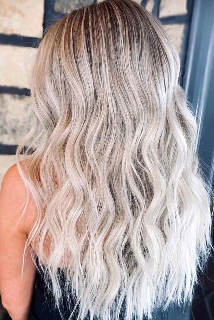 Ash Blonde Long layers