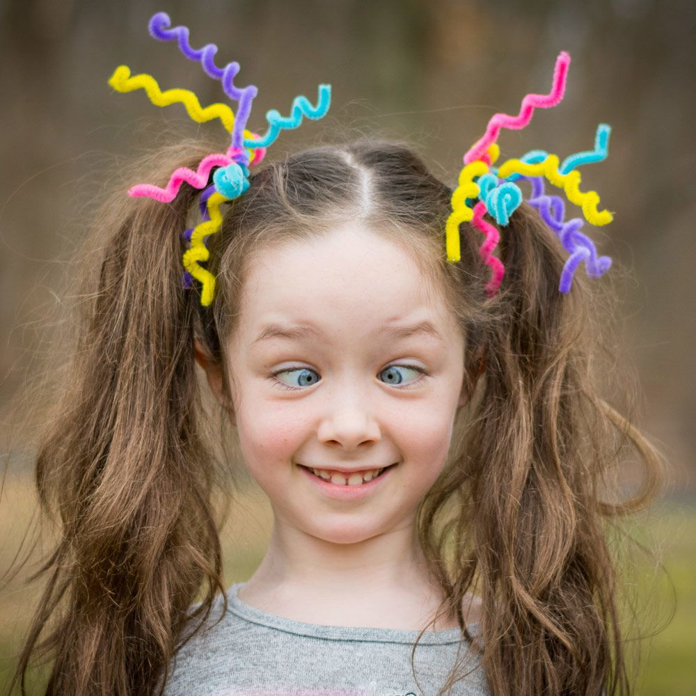 Bright & Easy Crazy Hair Day Ideas