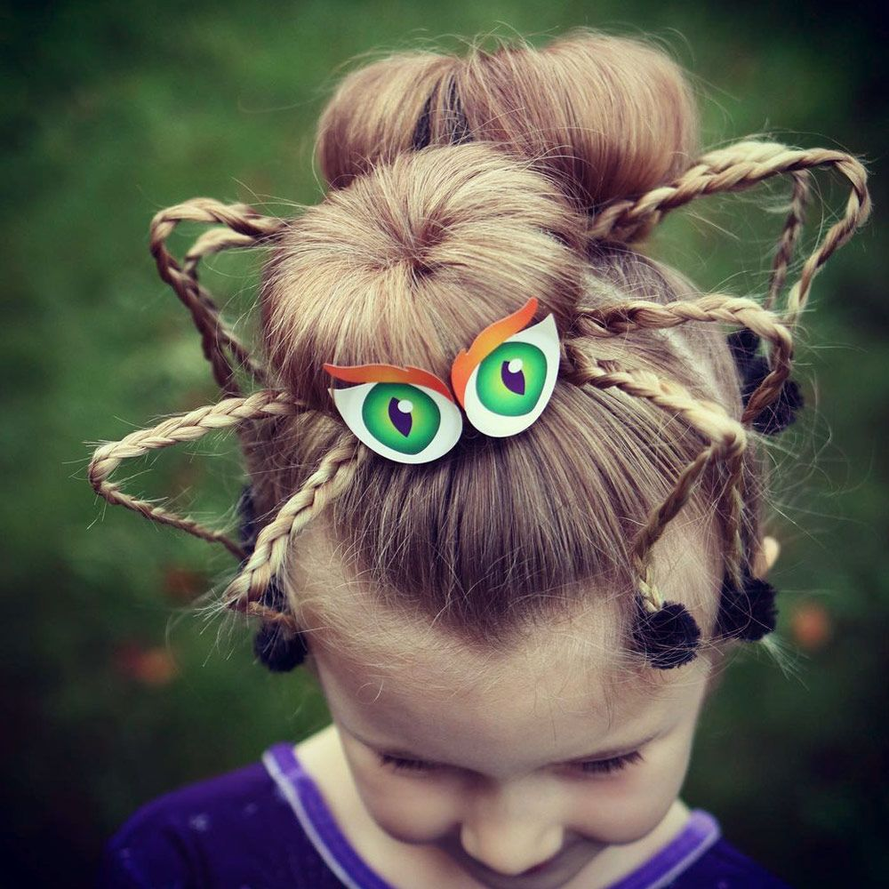 Spider Buns Hairstyle