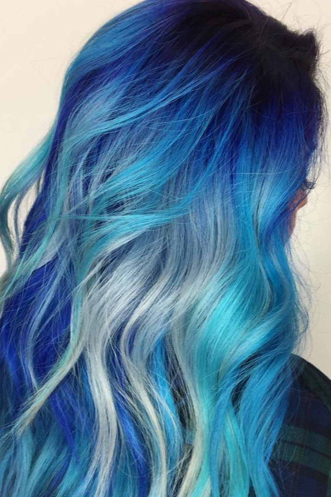 Blue Black To Grey Ombre