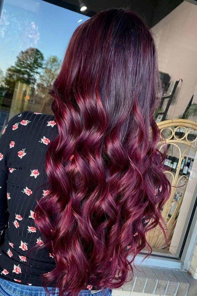 Dark Violet Burgundy