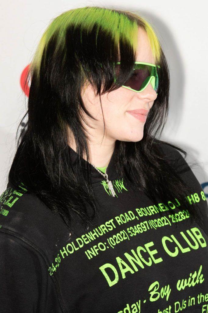 Billie Eilish Long Mullet Hair