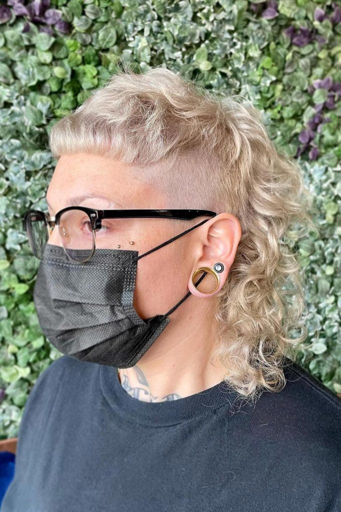 Curly Mullet Style