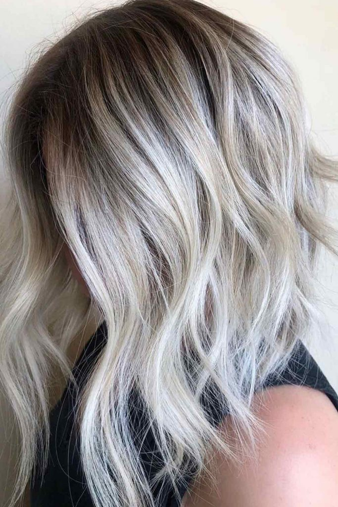 Silver And White Highlighted Hair