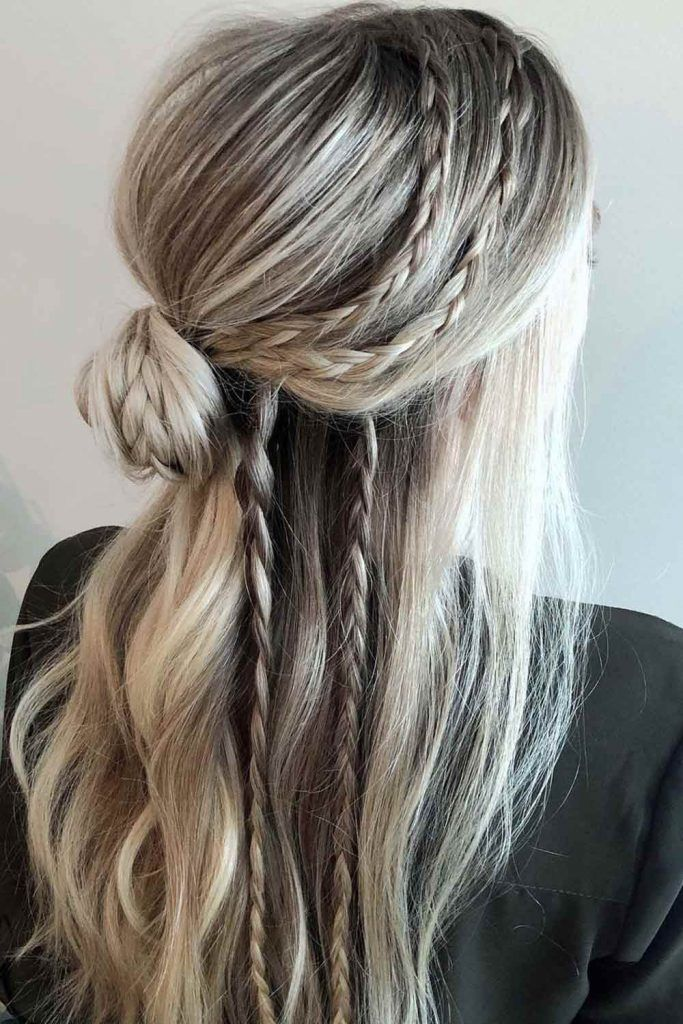 Half-Up With Braided Combo