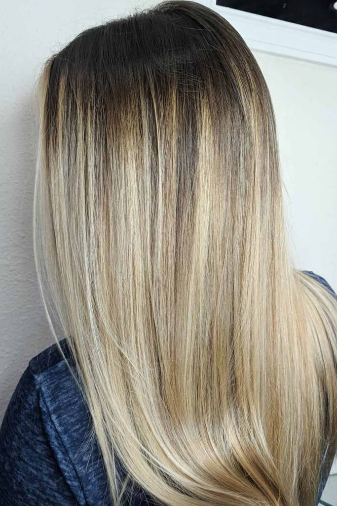 Brown Hair With Blonde Ombre