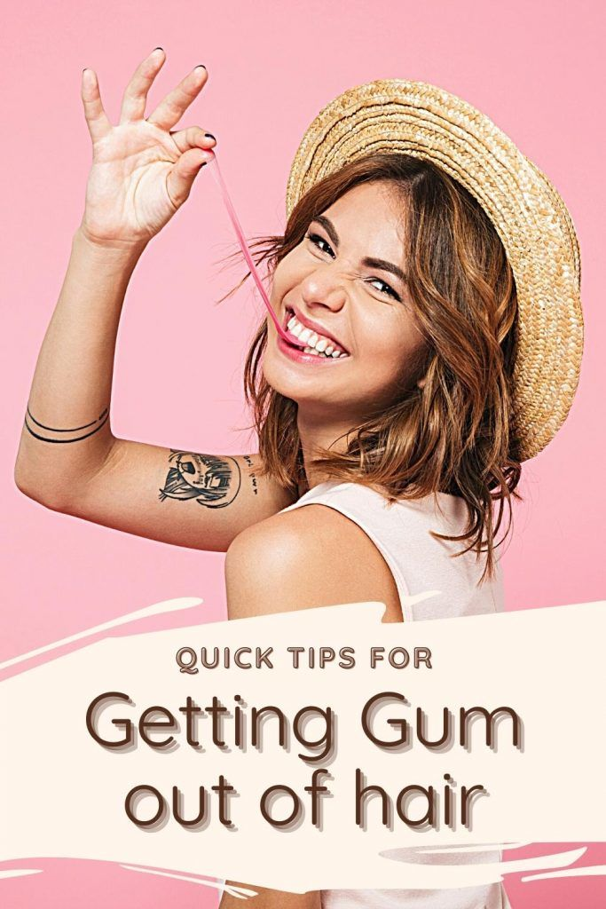 still wonder how to get gum out of hair effortlessly? There are simple recipes!