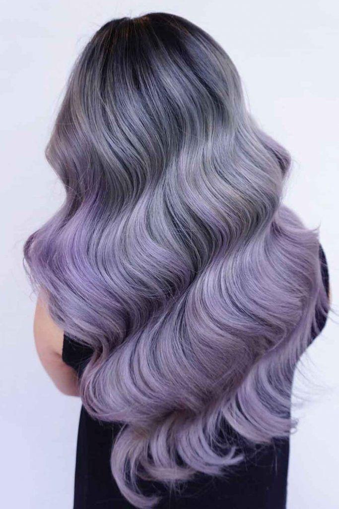 Grey To Lavender Purple