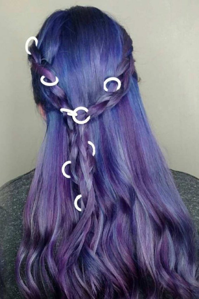 Ancient Blue Colored Braid