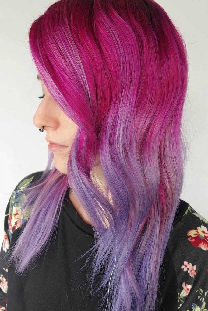 From Dark Lavender To Frozen Raspberry Ombre