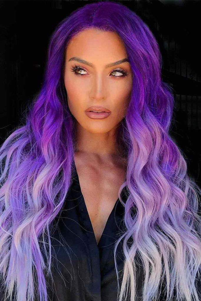 Deep And Dark Lavender Hair