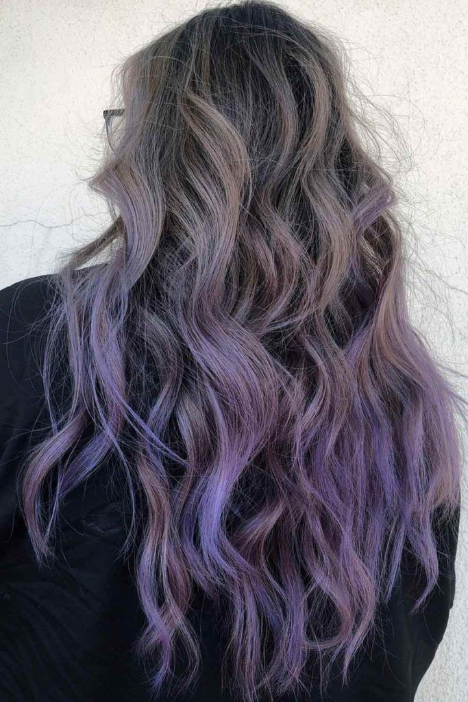Pastel Silver To Lavender Hair Transition