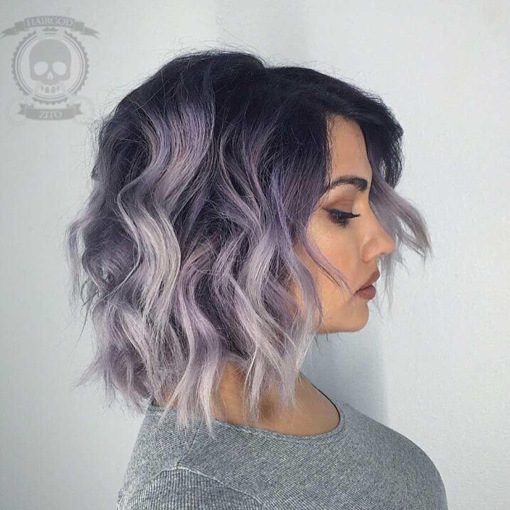 Subtle Lavender Ombre Hair