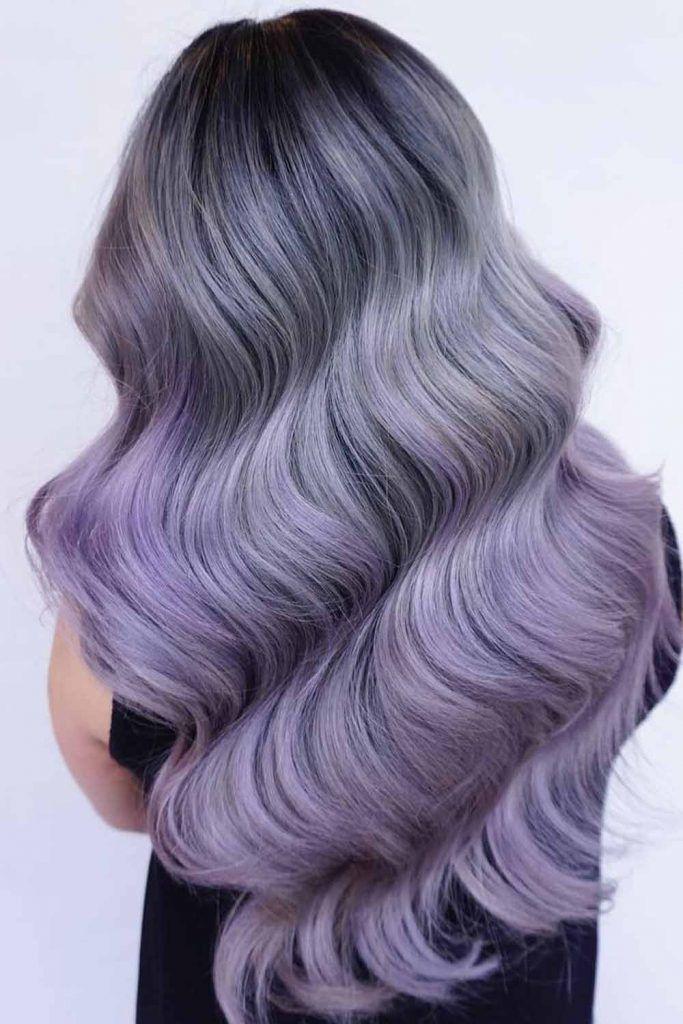 Lavender Highlights On Violet Hair