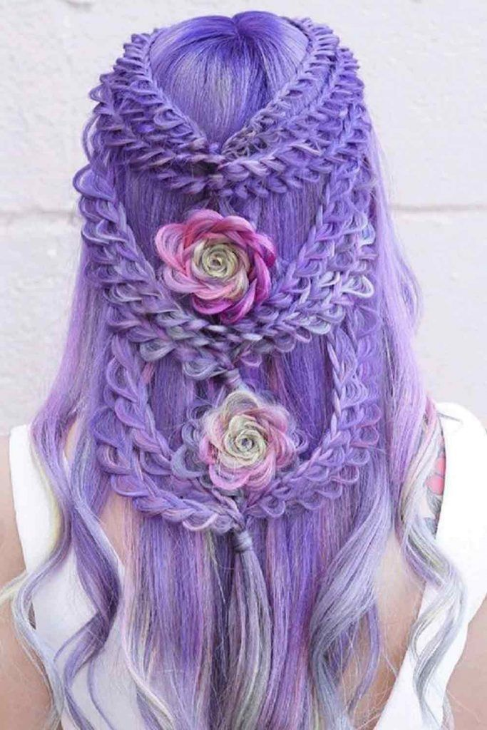 Lavender Hair With Gentle Highlight