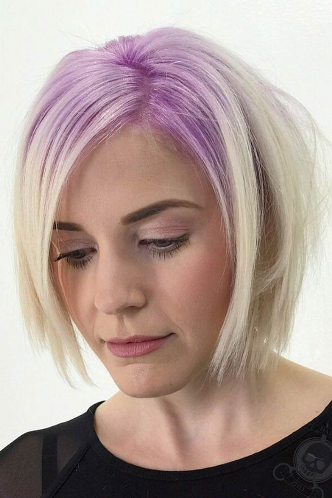 Lavender Roots With Blonde Base