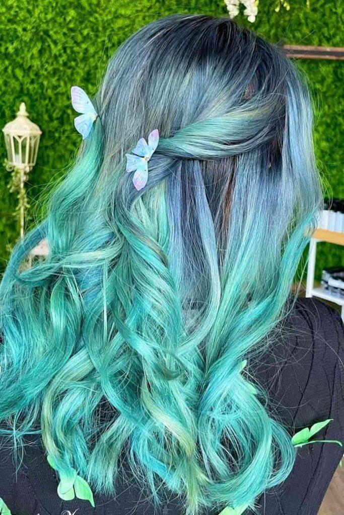 Brunette To Blue