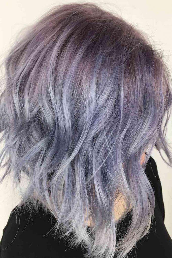 Pastel Blue with Purple Streaks