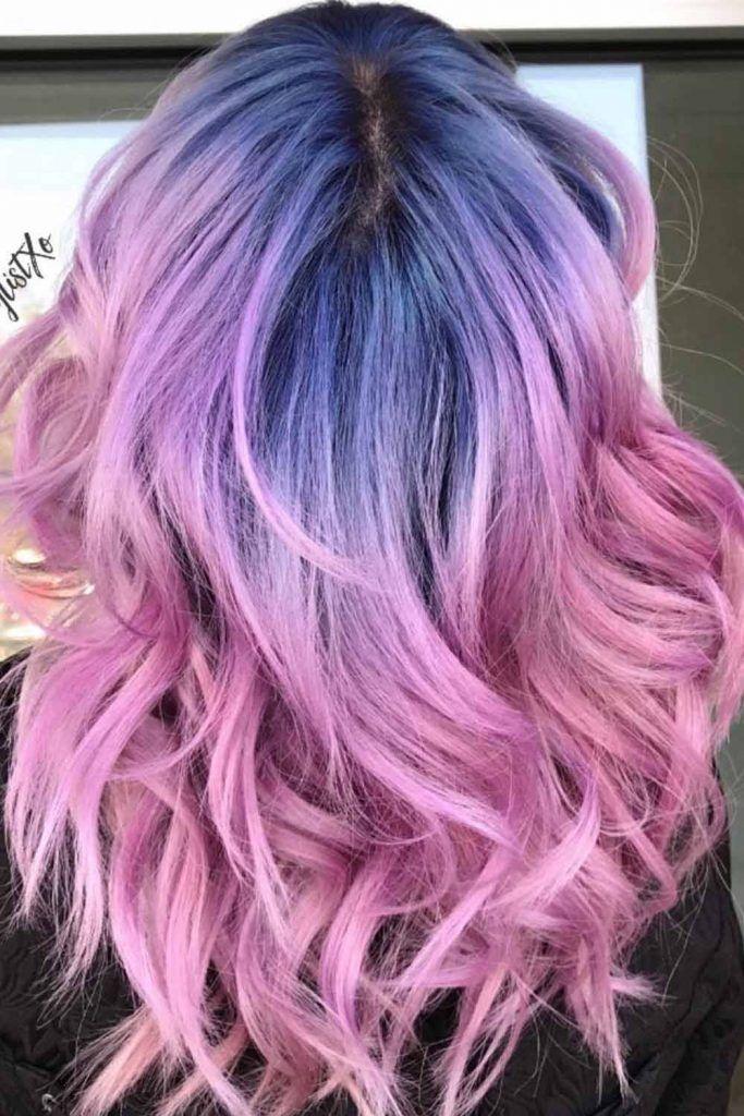 Deep Blue To Pink Bi-Color