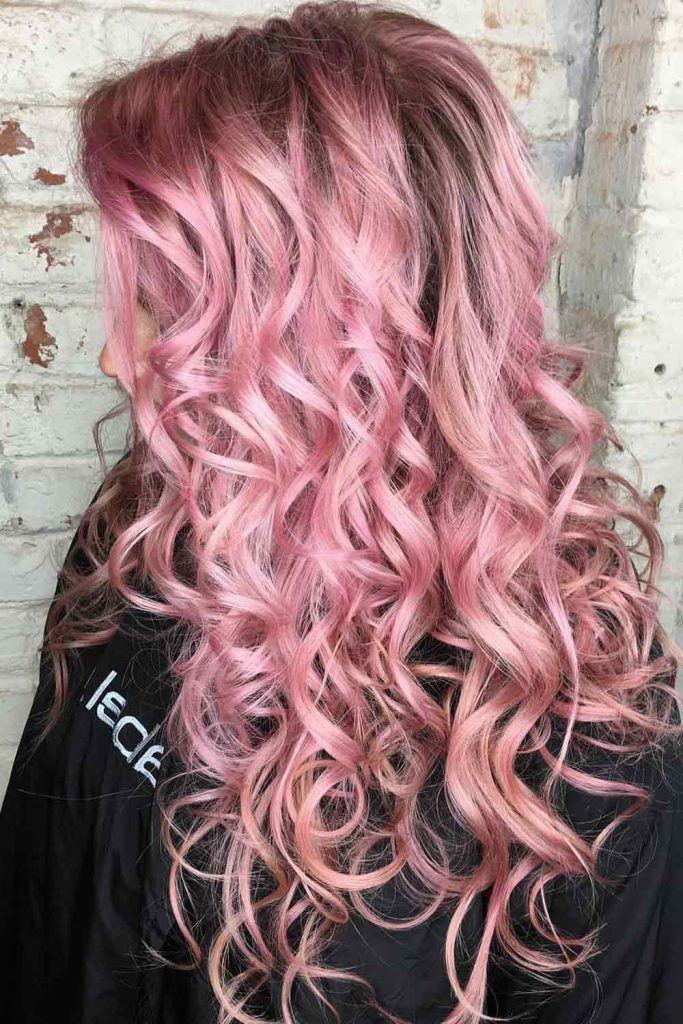 Metallic Pastel Pink Hair