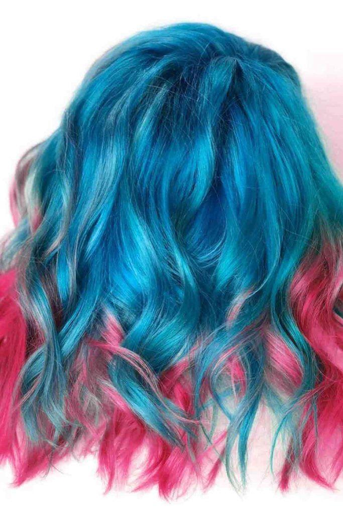 Blue and Fuchsia Color