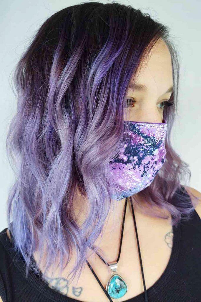 Black With Smokey Purple