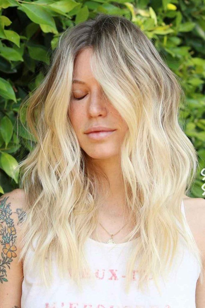 Ash Brown And Platinum Blonde Ombre
