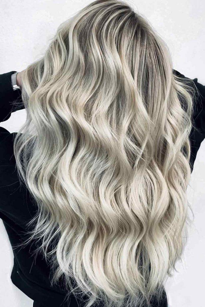 Platinum Blonde With Black Roots
