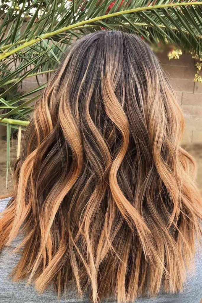 Strawberry Blonde Ombre On Brown Hair