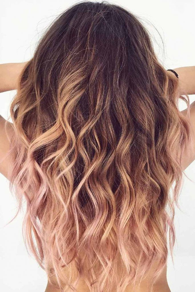 Black Roots and Pinkish Streaks
