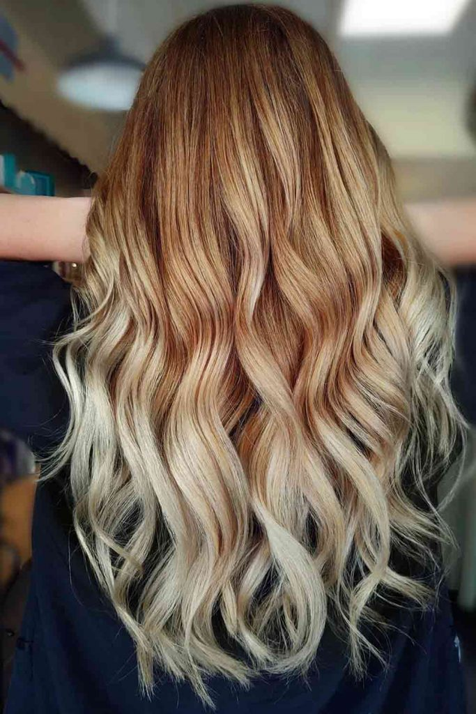 Dark Ash Blonde And Dusty Rose Blonde Ombre